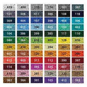 Farvekort for dørmåtter med 72 standardfarver