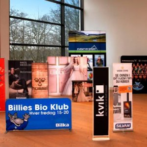 Mange forskellige typer displays til indendørs brug