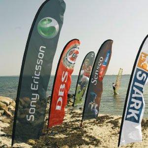 Beachflag til udendørs markedsføring