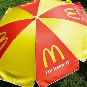 Parasol med logo tryk