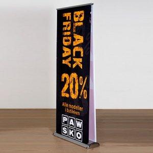 Blackfriday roll-up dobbeltsidet
