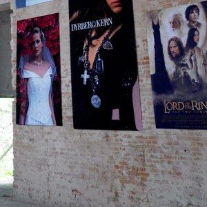 Indendørs bannere til butik i stof med print
